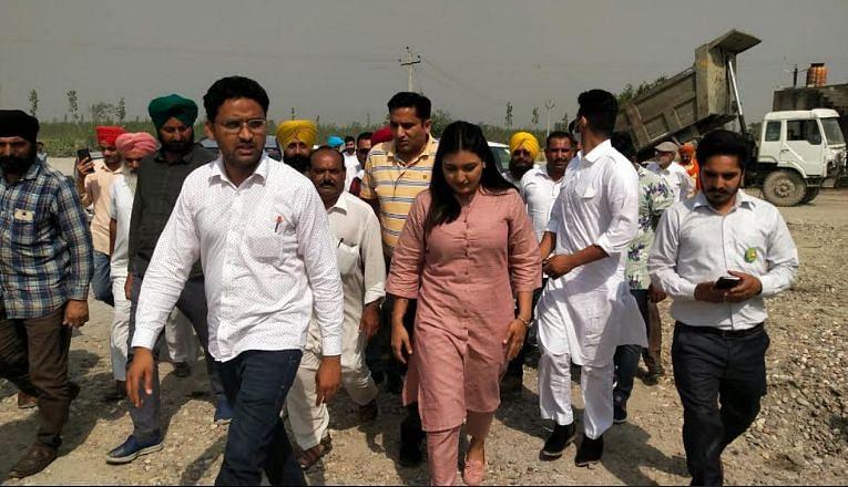 अनमोल गगन मान ने आनंदपुर साहिब क्षेत्र में अवैध खनन वाले क्षेत्रों का दौरा किया