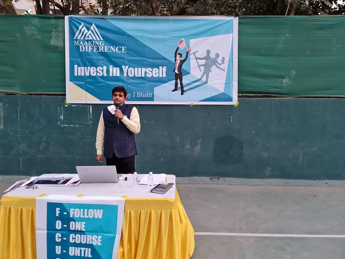 'आप भी बनिये टेनिस स्टार', मोटिवेशनल स्पीकर निलय भट्ट ने बॉल बॉय और कोचका बढ़ाया आत्म विश्वास
