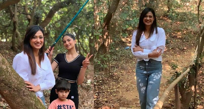 Palak Tiwari अपनी मॉम Shweta Tiwari के साथ कर रही हैं 'जंगल में मंगल', कुछ यूं दिखा एक्ट्रेस का Glamorous अंदाज, Photos Viral