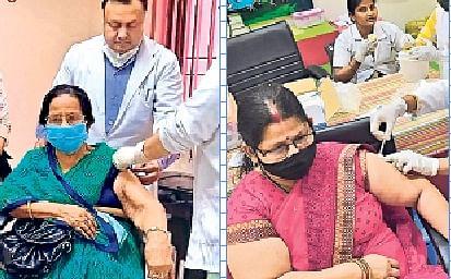 बिहार में 85 हजार महिलाएं समेत रिकॉर्ड 1.47 लाख बुजुर्गों को लगा टीका, फूलों से हुआ स्वागत