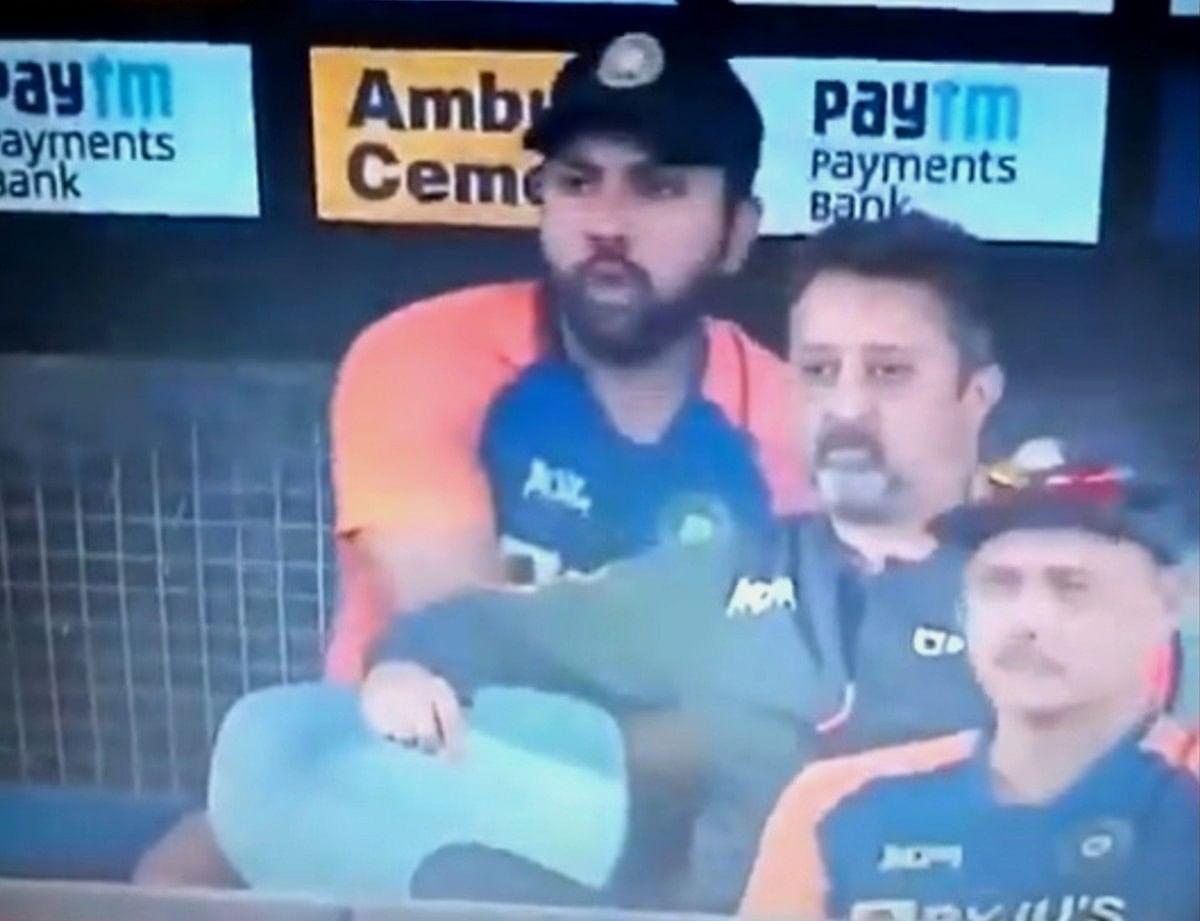 IND vs ENG 2nd T20I: तो क्या मैच के दौरान छुपकर बड़ा पाव खा रहे थे रोहित शर्मा, VIDEO हो रहा है वायरल