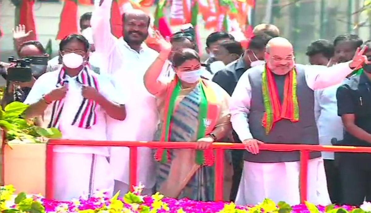 तमिलनाडु में अमित शाह ने किया रोड शो, बोले-राज्य में विकास तभी जब भ्रष्टाचारी और परिवारवादी को मिलेगी हार