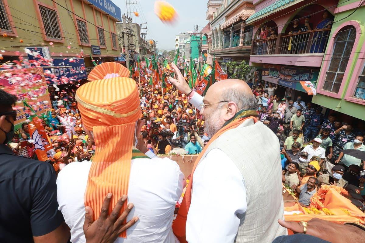 Bengal Election 2021: जहां से ममता को मिली सियासी बुलंदी, उसी सिंगूर से पतन तय, रोडशो में अमित शाह का दावा