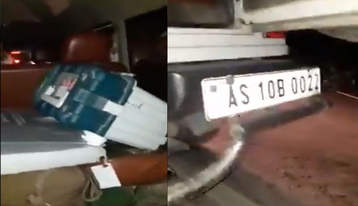 वोटिंग के बाद बीजेपी उम्मीदवार की गाड़ी में जा रहा था ईवीएम, वायरल हुआ वीडियो, प्रियंका गांधी ने किया रीट्वीट