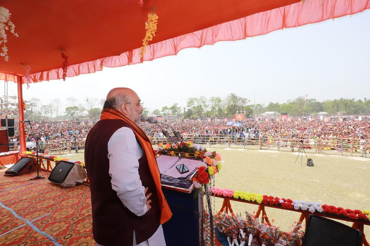 Bengal Chunav 2021: अलीपुरदुआर में ममता पर बरसे अमित शाह, कहा-दीदी के खेला होबे से हम डरने वाले नहीं हैं