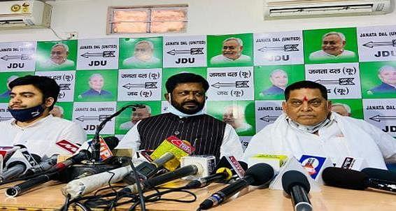 Madhubani Hatyakand को लेकर JDU की प्रेस कॉन्फ्रेंस, Tejashwi Yadav के हर सवालों का दिया जवाब