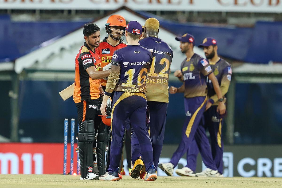 IPL 2021 KKR v SRH : राणा-त्रिपाठी के तूफान में उड़े सनराइजर्स, केकेआर ने जीत से की अभियान की शुरुआत