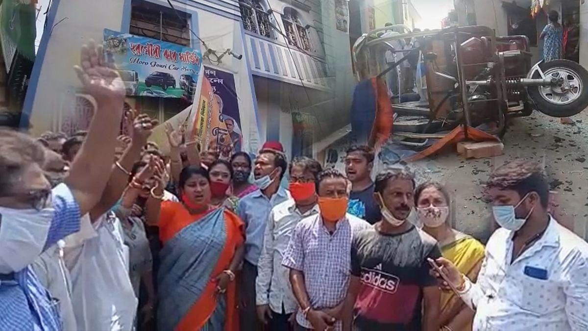 नैहाटी में BJP वर्कर्स के घरों पर बमबाजी, नाराज लोगों का थाने के सामने प्रदर्शन, ममता पर लगाए डराने के आरोप