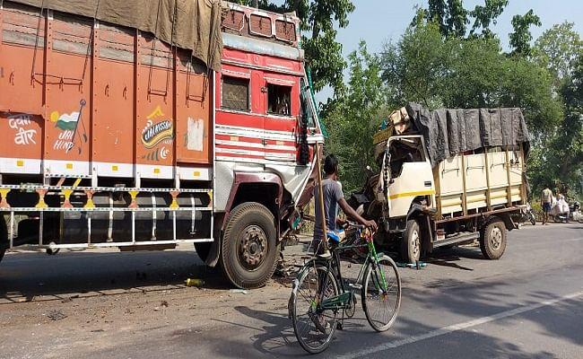 बिहार में नेशनल हाइवे पर ट्रक और पिकअप वैन की जोरदार टक्कर, सेना के जवान सहित तीन लोगों की मौत