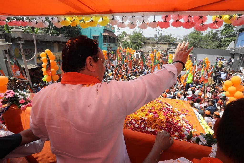 Bengal Election 2021: पूर्व बर्दवान में रोड शो में बोले जेपी नड्डा, TMC की तानाशाही सरकार के खिलाफ है ये रोड शो