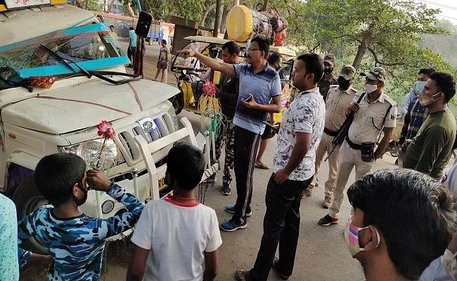 बिहार के औरंगाबाद में अनियंत्रित पिकअप की चपेट में आए ड्यूटी पर तैनात दो होमगार्ड जवान, एक की मौत दूसरा घायल