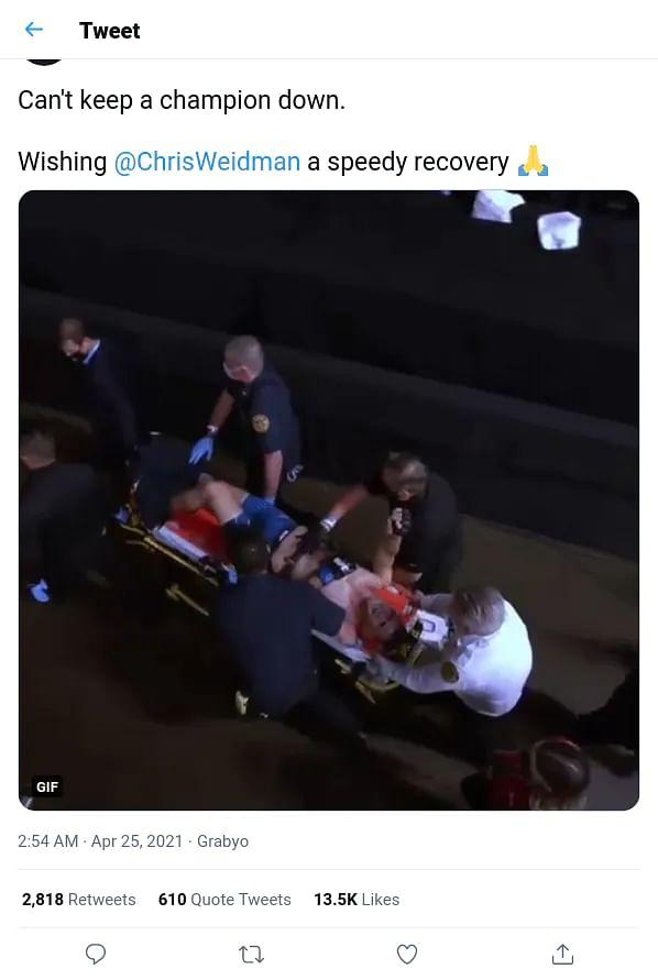 UFC के फाइट में हुआ खतरनाक हादसा, उरीह हॉल को किक करने के बाद दो हिस्सों में टूटा वेइडमैन का पैर, देखें VIDEO