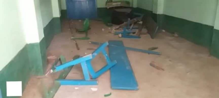 टीएमसी कार्यालय में तोड़फोड़
