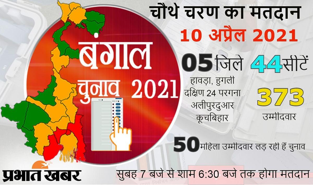 बंगाल की 44 सीटों पर हो रहा है मतदान