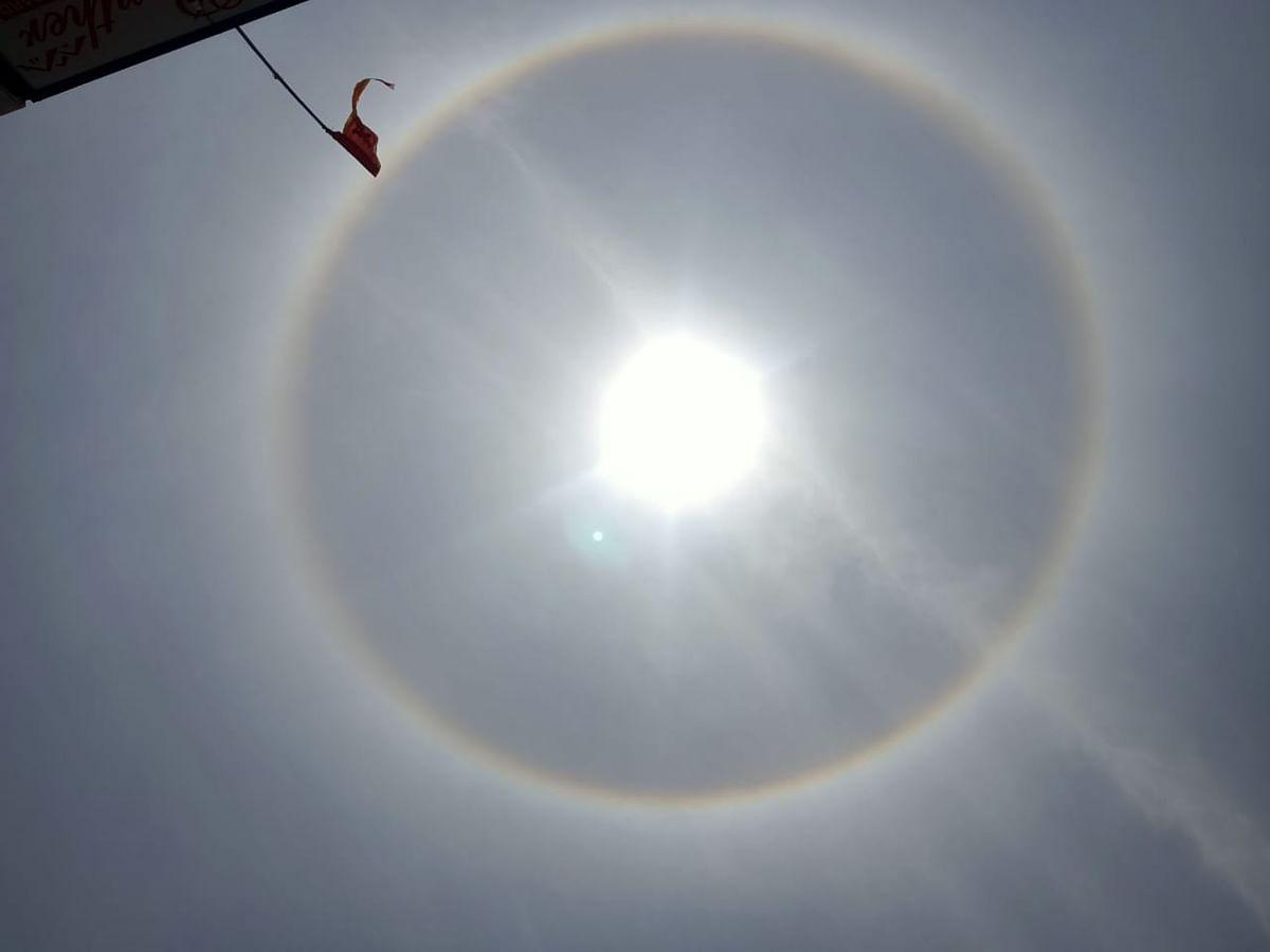 लातेहार में सूर्य का ये रूप दिखा