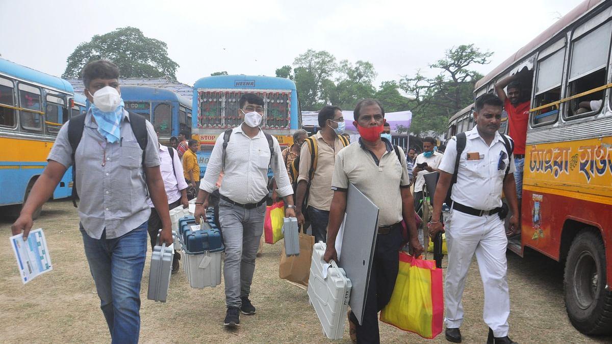 केंद्रीय बलों की 90 कंपनी और 4,000 पुलिस वालों की निगरानी में कोलकाता
