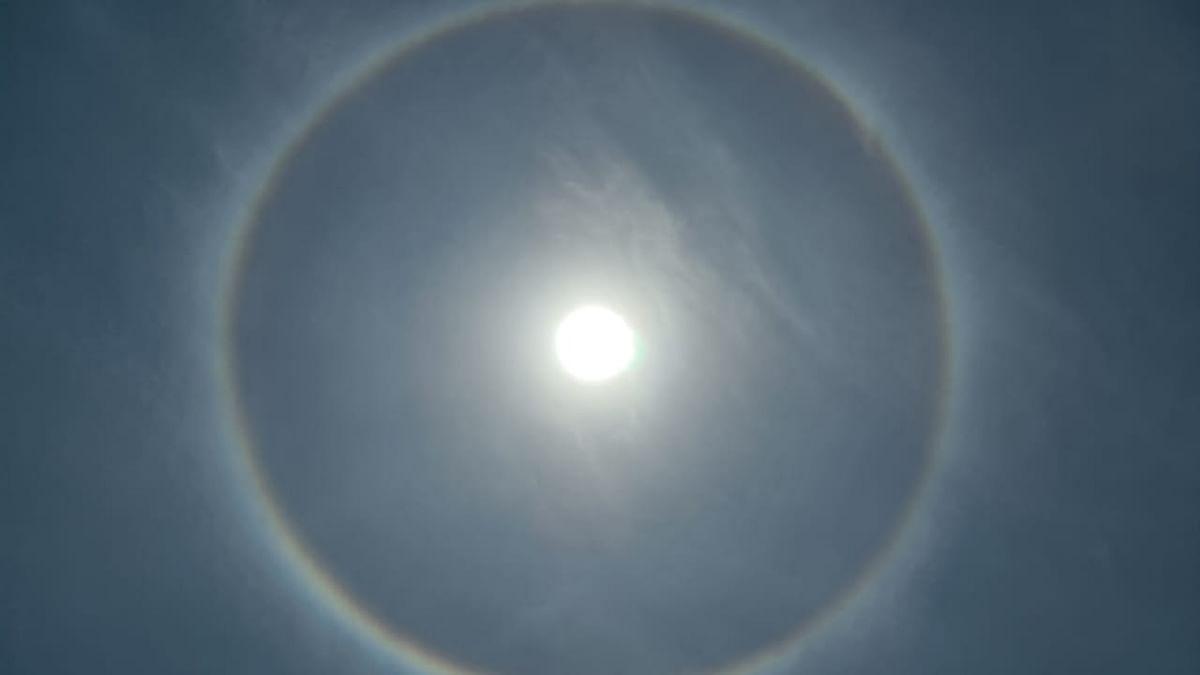 सूर्य का अद्भुत नजारा