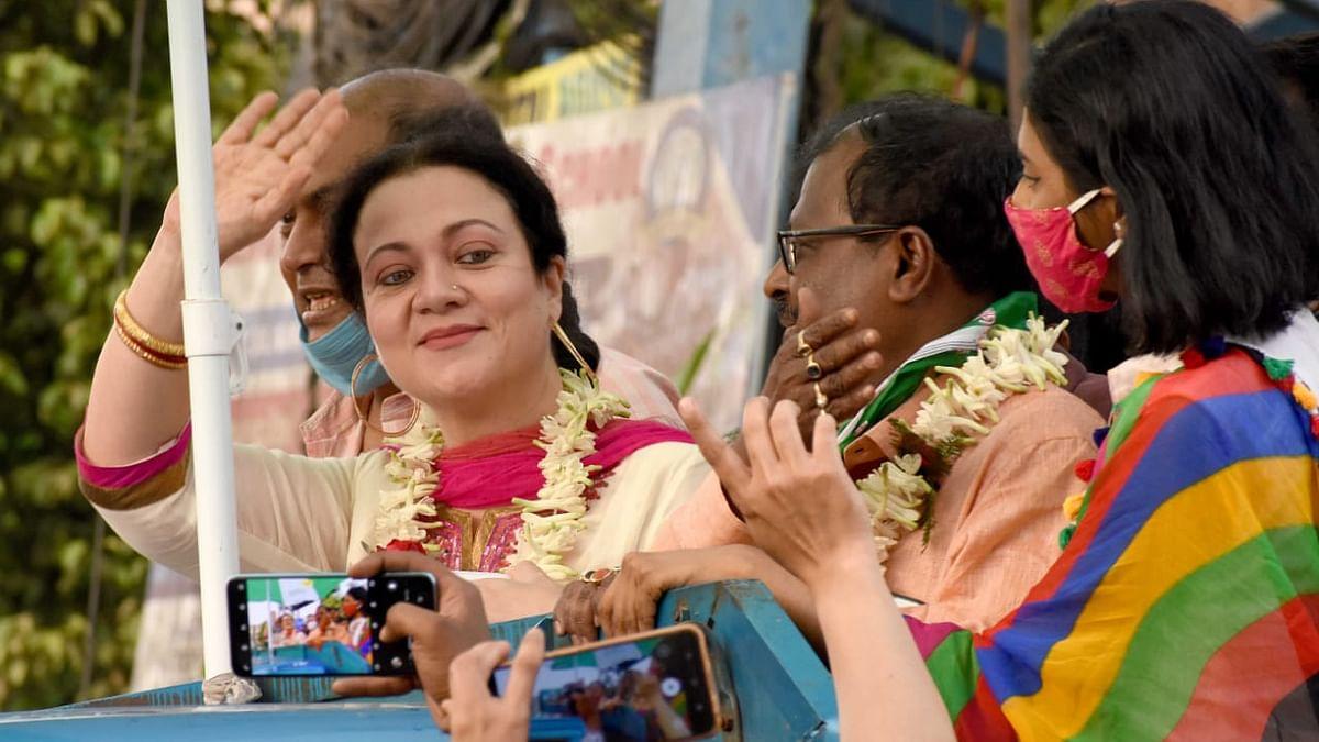 बंगाल चुनाव में बॉलीवुड की दिलकश अदाकारा मंदाकिनी का जलवा, आप भी देखिए