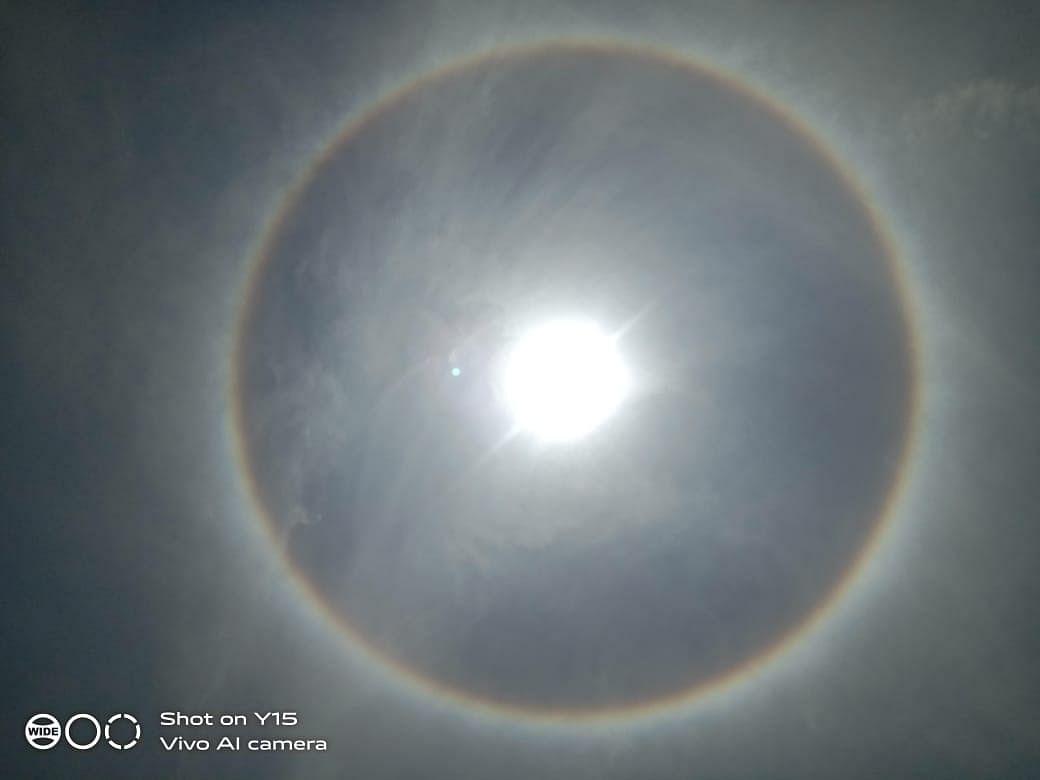 हजारीबाग में सूर्य का ये रूप दिखा