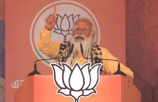 कविगुरु ने कहा- चित्त जेथा भय शून्यो, PM मोदी ने बताया दीदी कहती हैं- चित्त जेथा भय आक्रांत