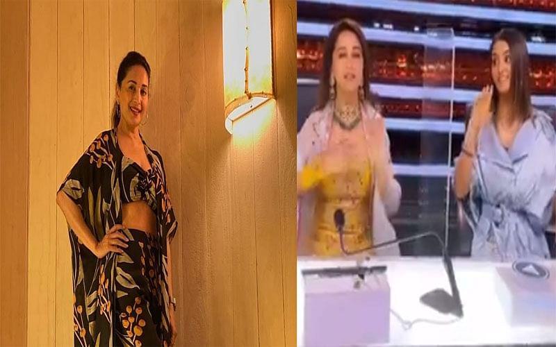 Madhuri Dixit ने Dance Deewane 3 के सेट पर मचाया धमाल, 'धक-धक' गर्ल ने एक दो तीन गाने को किया रिक्रिएट, Video Viral