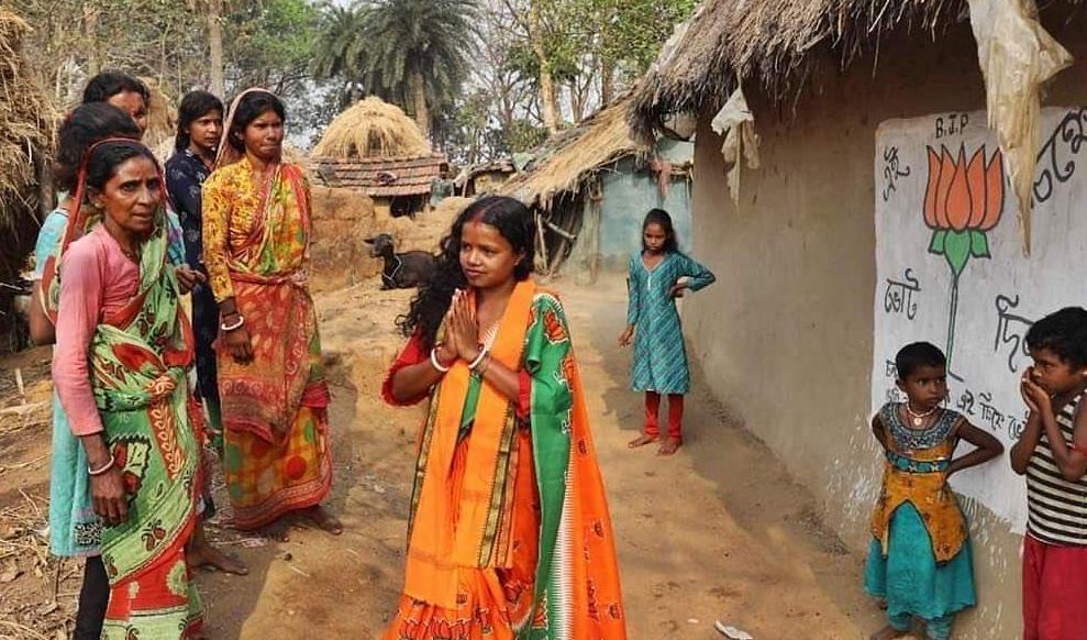 बंगाल के संग्राम में एक नौकरानी ने भी लहराया परचम, TMC की आंधी में विजेता बनीं BJP की चंदना