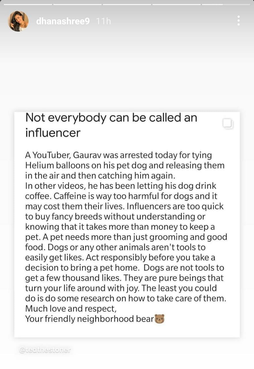 कुत्ते को गुब्बारों से बांधकर उड़ाने वाले यूट्यूबर पर भड़के चहल और धनश्री वर्मा, गुस्से में कह दी ये बात