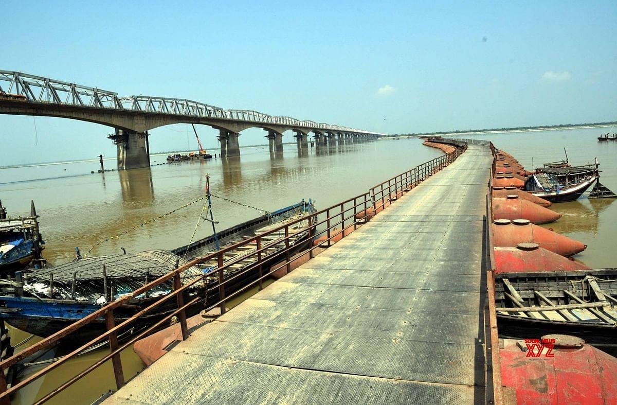 यास से बाधित हुआ गांधी सेतु के पूर्वी लेन का निर्माण, अब पांच माह बाद ही होगा नदी वाले हिस्से पर काम