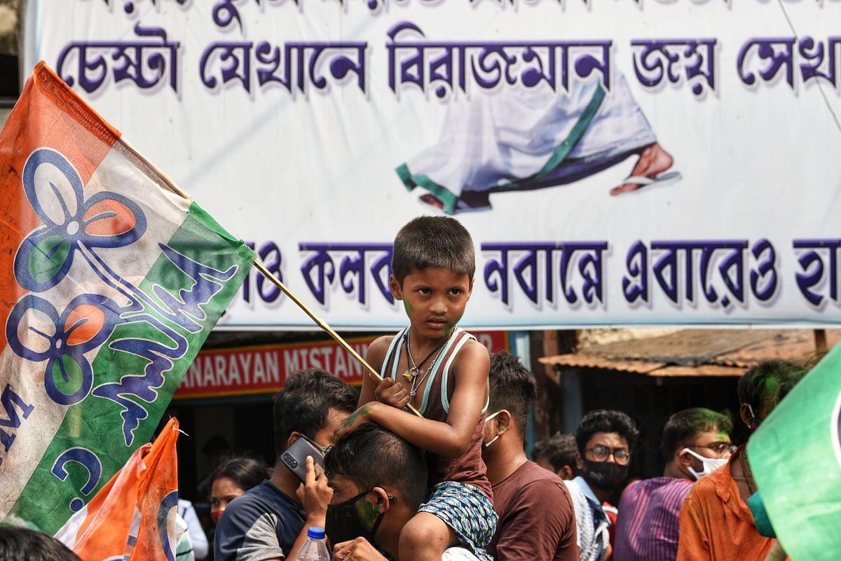 चुनाव परिणाम सामने आने के बाद तृणमूल समर्थकों में था जबर्दस्त उत्साह