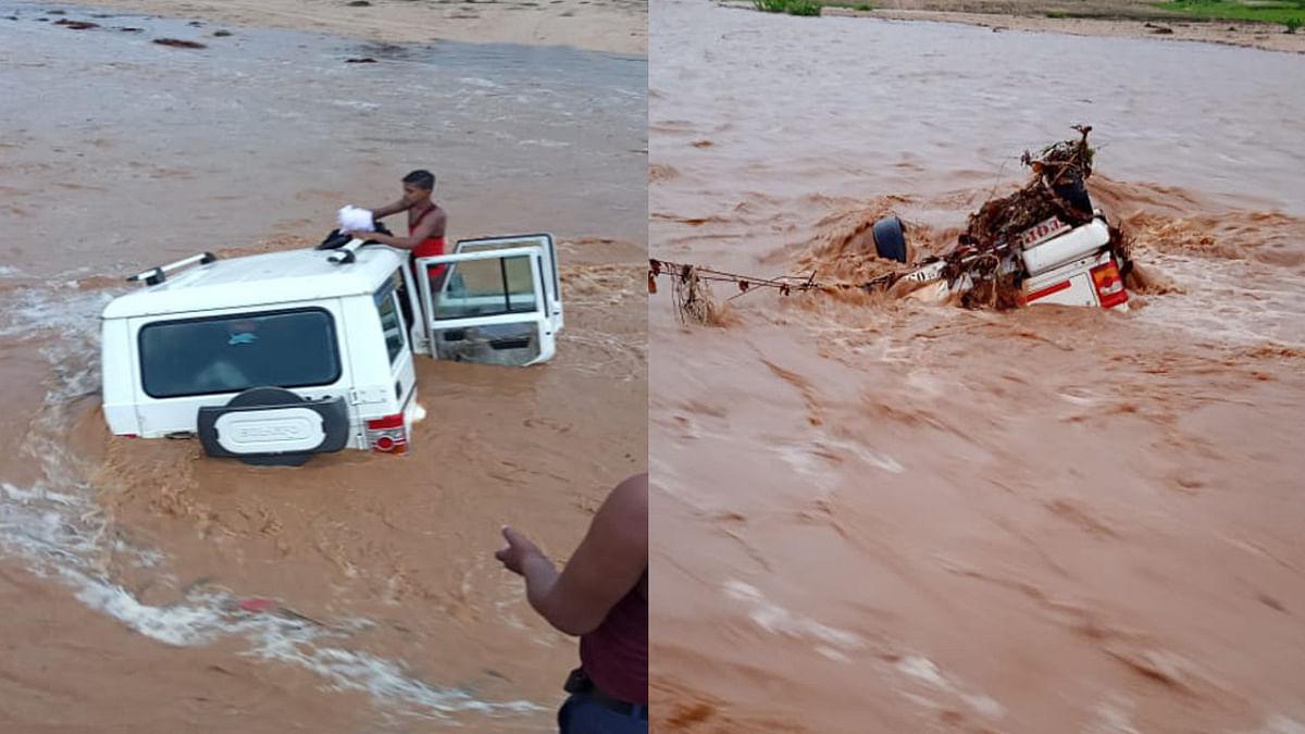Cyclone Yaas Update News : लातेहार के धरधरी नदी में हादसा, बाढ़ आने से बाराती वाहन बहने से बचा, जानें कैसे सुरक्षित निकले लोग