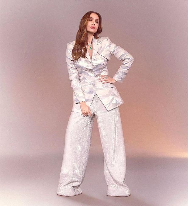 Malaika Arora backless oversized outfit