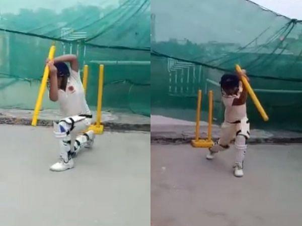 क्रिकेट का जुनून: 91 की उम्र में भी विकेटों के बीच दौड़ लगा रहे हैं डग तो भारत में आठ साल के विग्नाज लगा रहे हैं शानदार शॉट