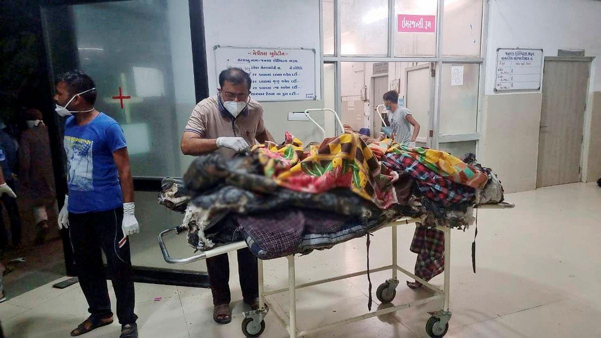 Gujarat Hospital Fire : दिल दहला देने वाली तस्वीर आई सामने, भरूच में कोविड-19 अस्पताल में लगी आग की वजह से 18 की मौत