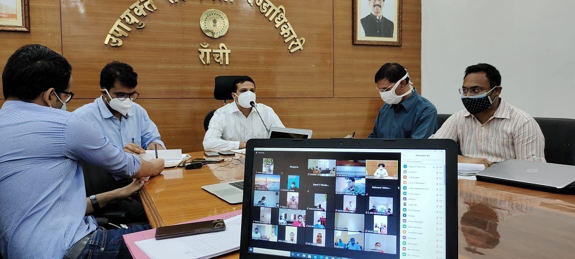Coronavirus In Jharkhand : कोरोना की चेन तोड़ने को लेकर पंचायती राज संस्थाओं के प्रधानों से उपायुक्त ने किया संवाद, कोरोना टेस्ट एवं टीकाकरण को लेकर की ये अपील