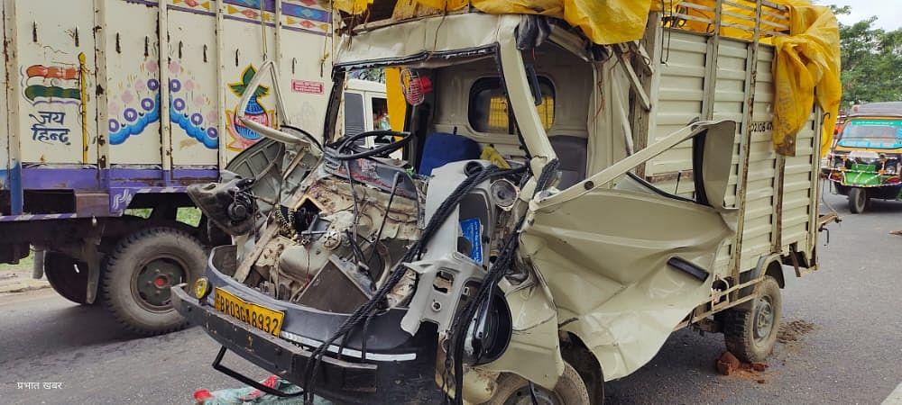 भोजपुर में सड़क हादसा, ब्रास बैंड पार्टी के चार लोगों की मौत, 9 जख्मी