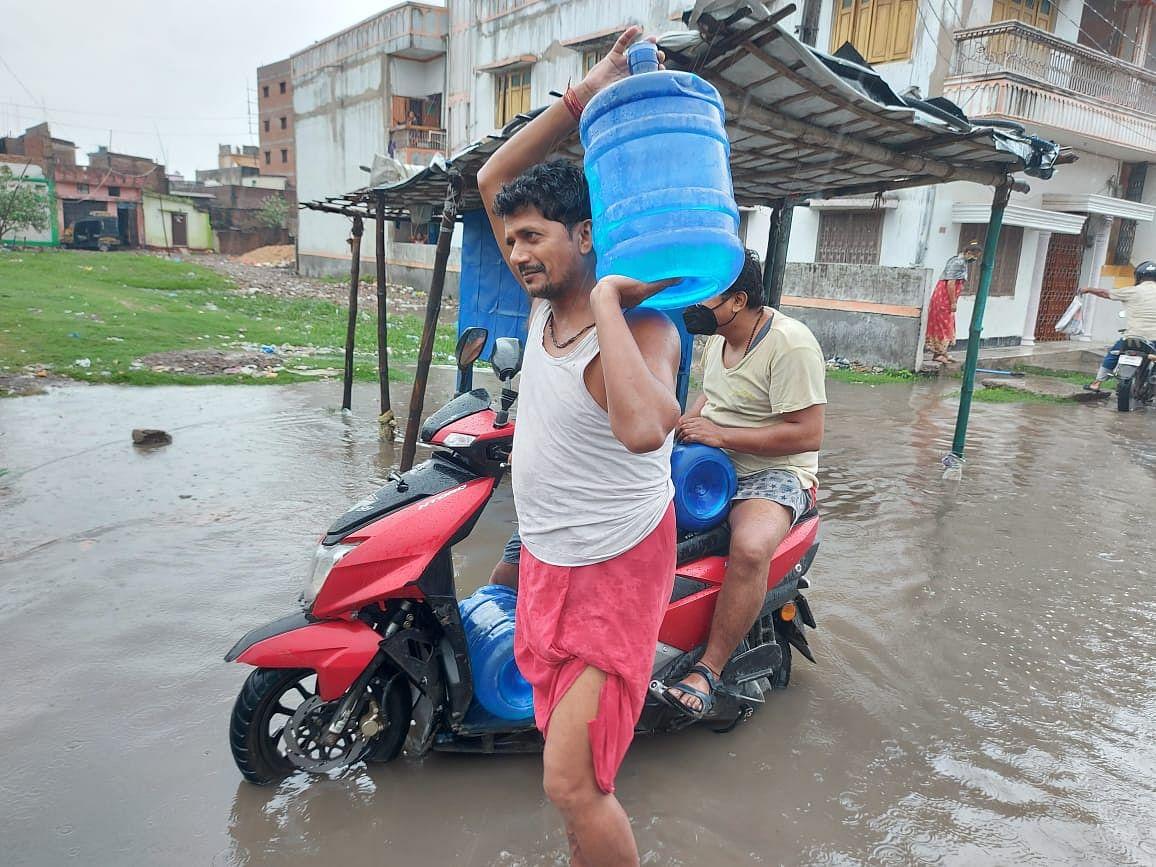 मुजफ्फरपुर में  जलजमाव