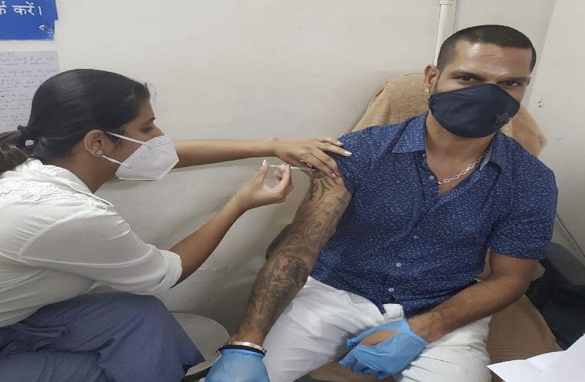 IPL 2021 : धवन ने लगवाई कोरोना वैक्सीन की पहली डोज, लोगों से कर दी ऐसी अपील