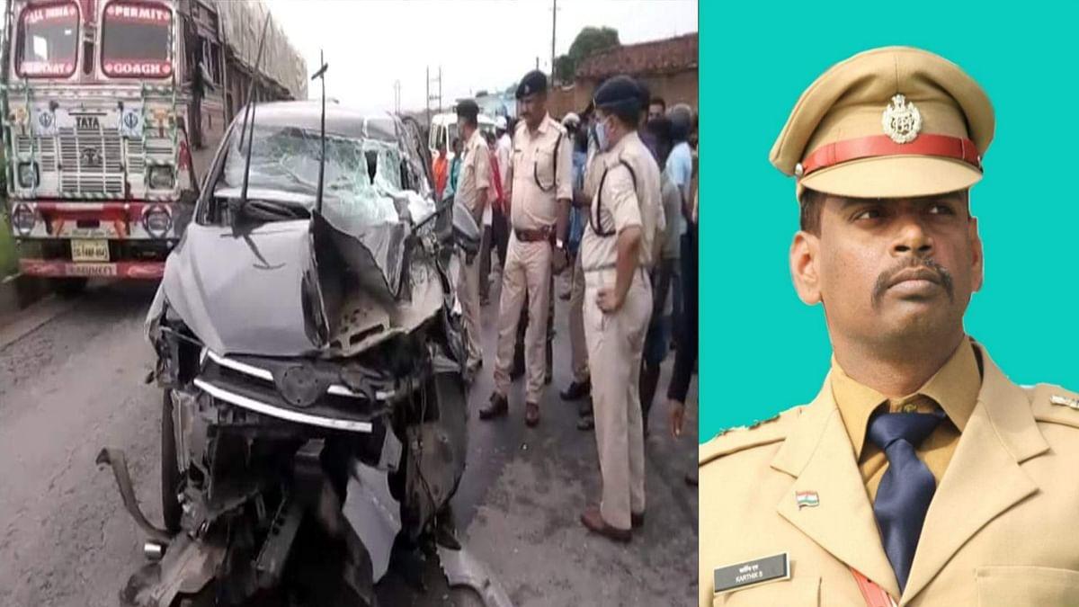 हजारीबाग एसपी का वाहन रामगढ़ के मुर्रामकला के निकट दुर्घटनाग्रस्त, 6 घायल