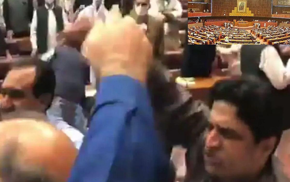 पाकिस्तानी सदन में गाली गलौज और धक्का मुक्की, महिला सांसद जख्मी