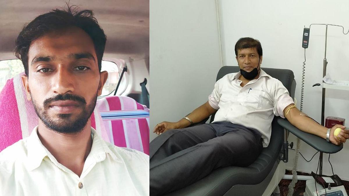 Jharkhand news : चितरपुर निवासी शिव कुमार 12 बार और पतरातू निवासी जीवन कुमार 30 बार कर चुके हैं ब्लड डोनेड.