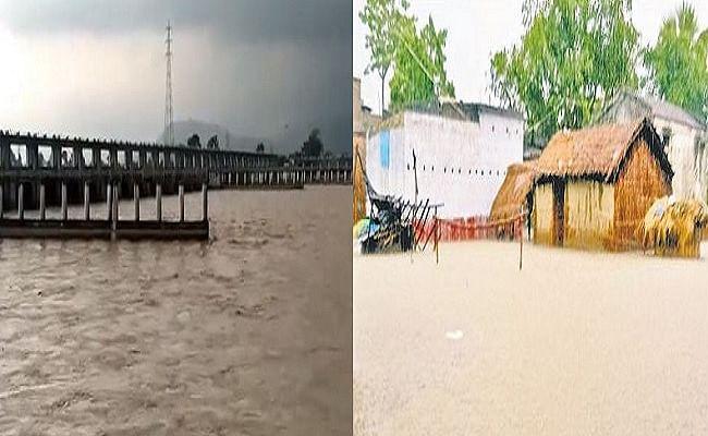बराज से छोड़ा गया पानी, गोपालगंज में  गंडक खतरे के निशान से ऊपर,  215 गांवों पर बाढ़ का खतरा