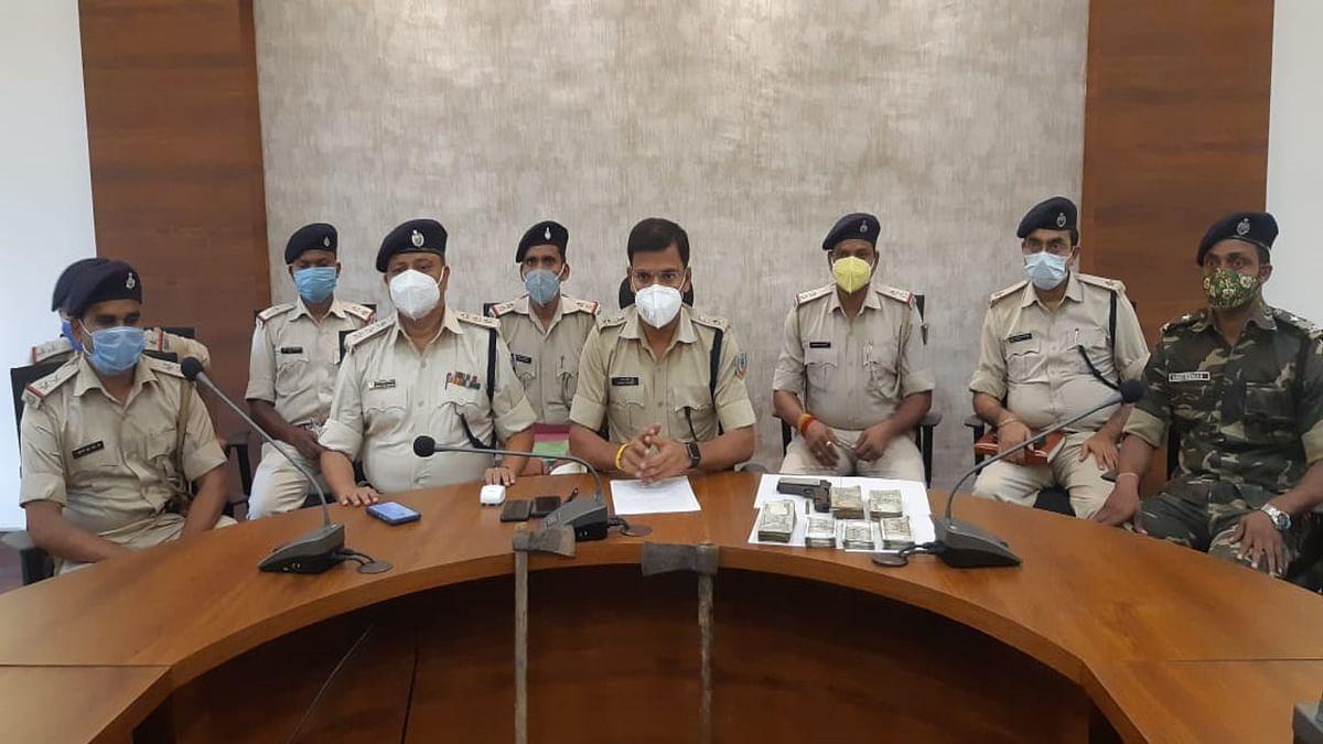 Jharkhand Crime News : लूट और अपहरण की योजना बनाते रामगढ़ के गोला में 4 क्रिमिनल गिरफ्तार, नकदी समेत हथियार बरामद