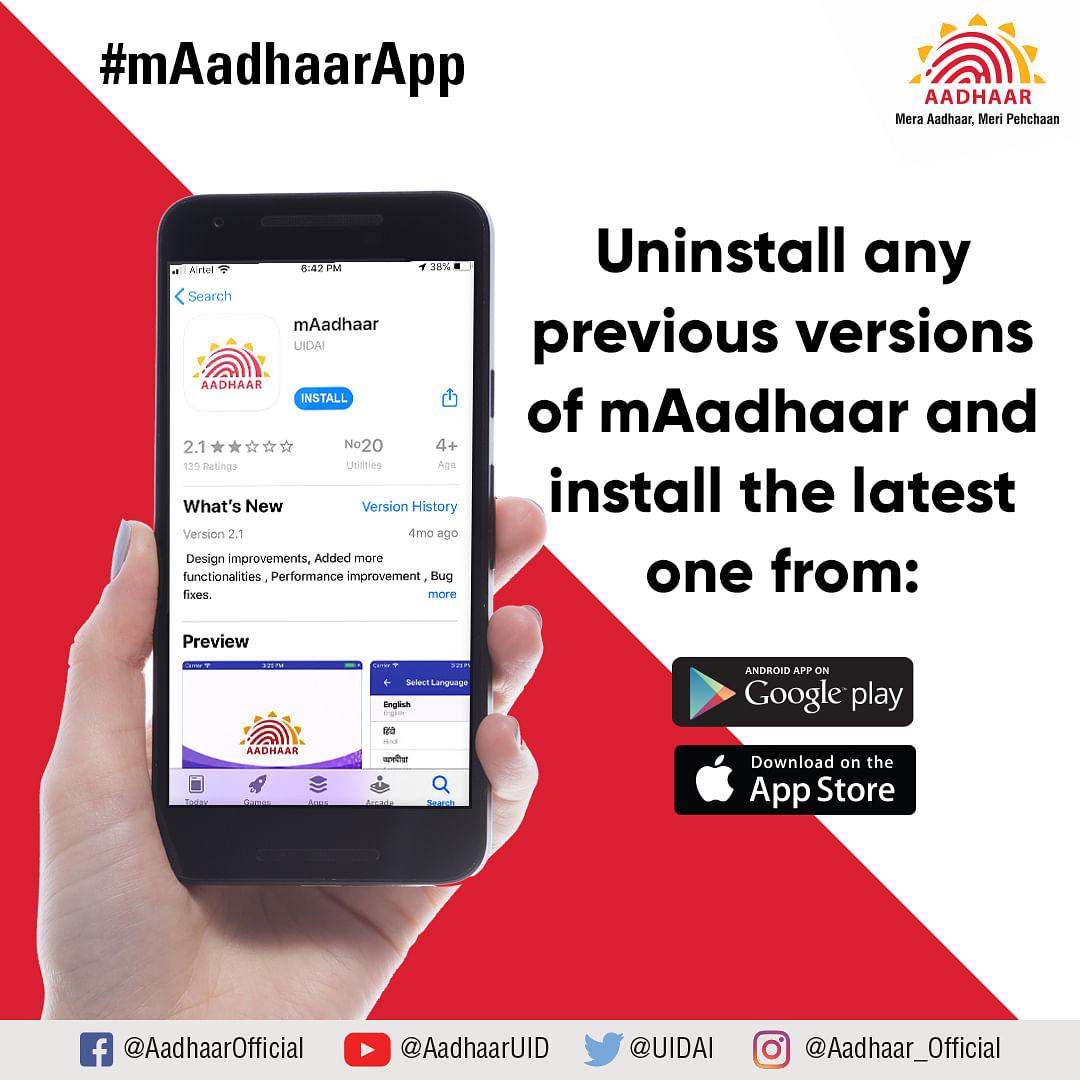 mAadhaar Update news