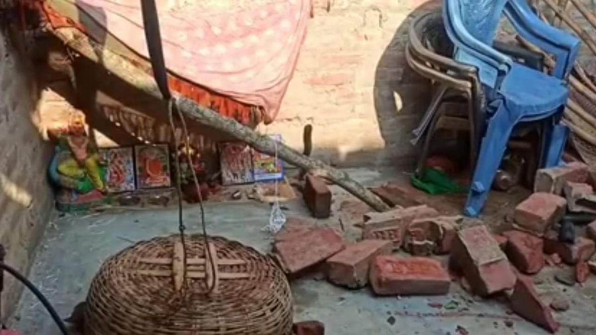 आंधी-बारिश से घरों को हुआ नुकसान