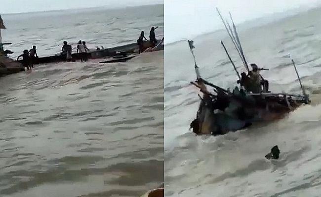 मुजफ्फरपुर में बड़ा नाव हादसा, बागमती में आधा दर्जन के डूबने की आशंका
