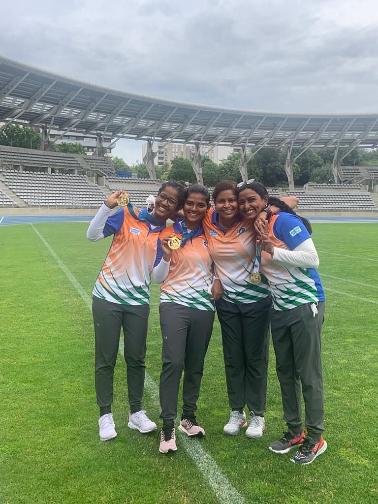 झारखंड की बेटियों ने पेरिस में किया कमाल, भारतीय महिला रिकर्व तीरंदाजी टीम ने जीता गोल्ड