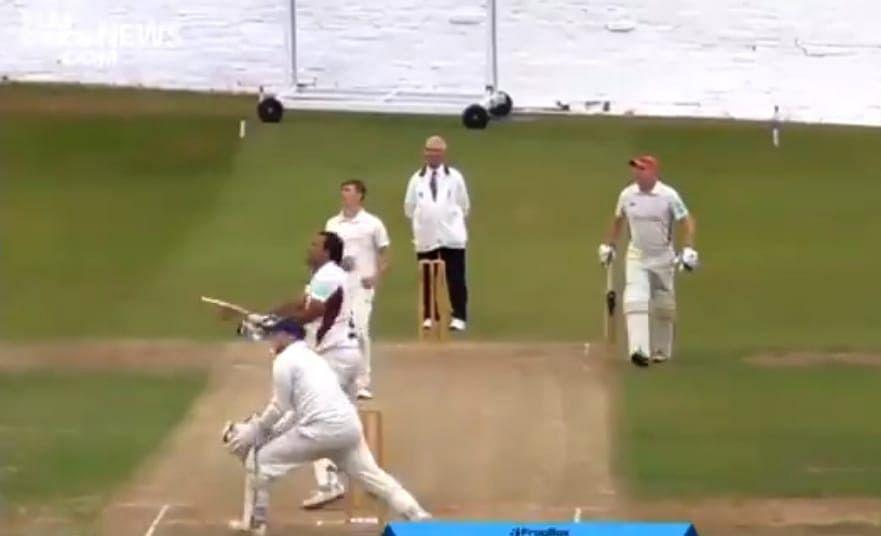 बल्लेबाज ने लगाया ऐसा छक्का कि तोड़ डाला अपनी ही कार का शीशा, वायरल हुआ वीडियो