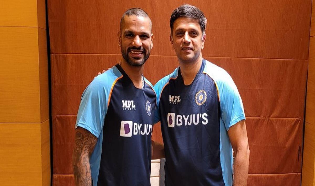 IND vs SL : श्रीलंका दौरे पर दिखेगा 'गब्बर' और 'द वॉल' की जोड़ी का धमाल, रवानगी से पहले धवन ने खिलाड़ियों में भरा जोश