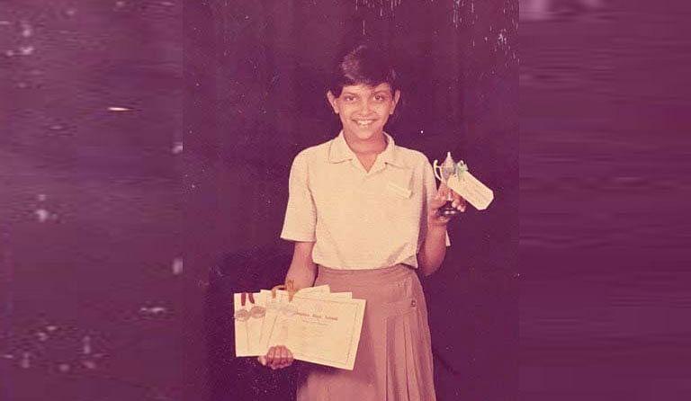 bollywood actress looking cute in their school uniform