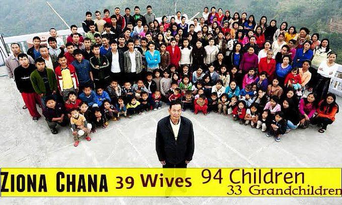 38 पत्नियों और 89 बच्चे के पिता जिओना चाना का निधन, मुख्यमंत्री ने ट्वीट कर दी जानकारी
